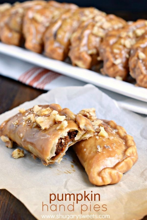 Nutty Pumpkin Hand Pies with a Maple Walnut Glaze- baked and ready in ...