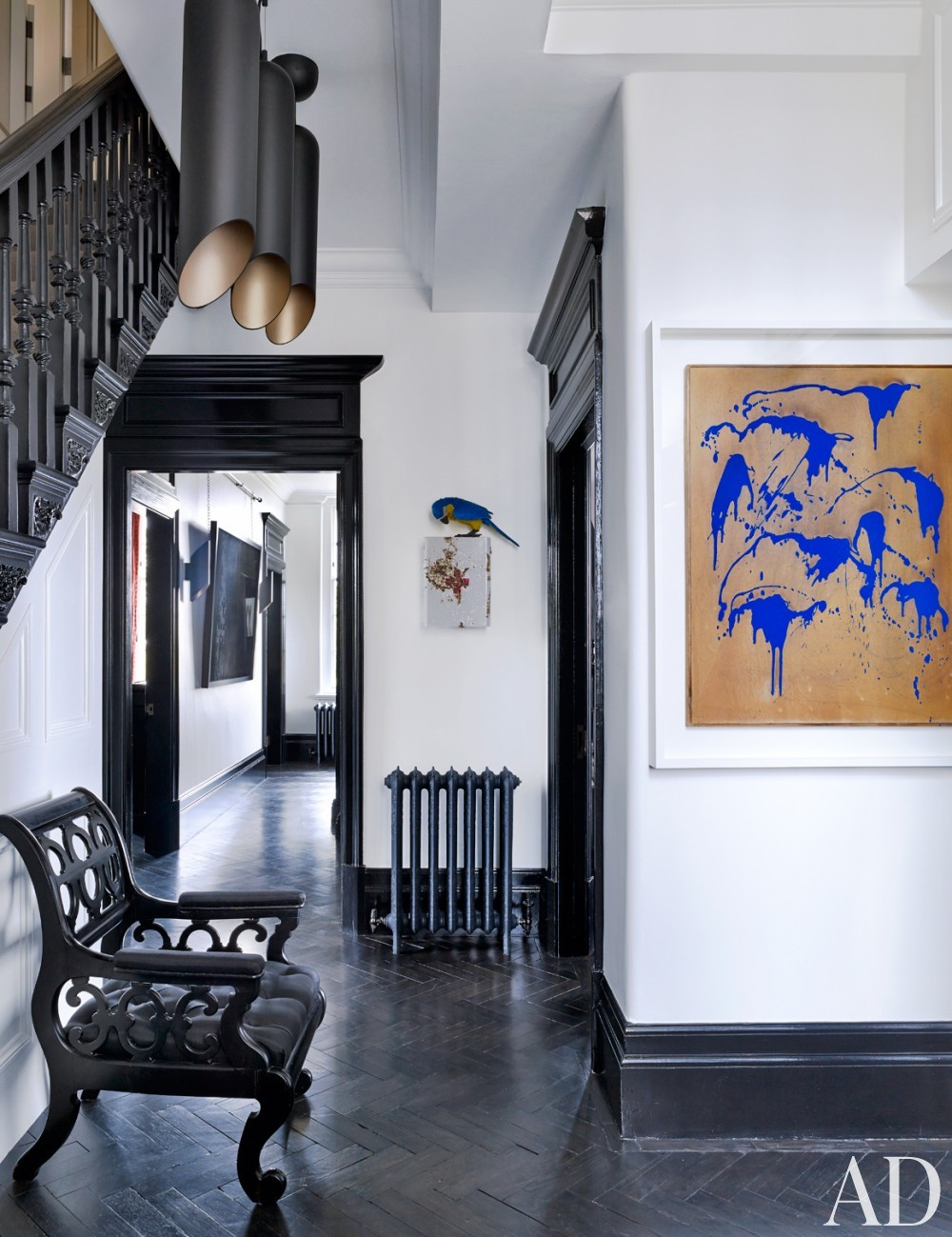 Modern Staircase/Hallway by Veere Grenney in London, UK