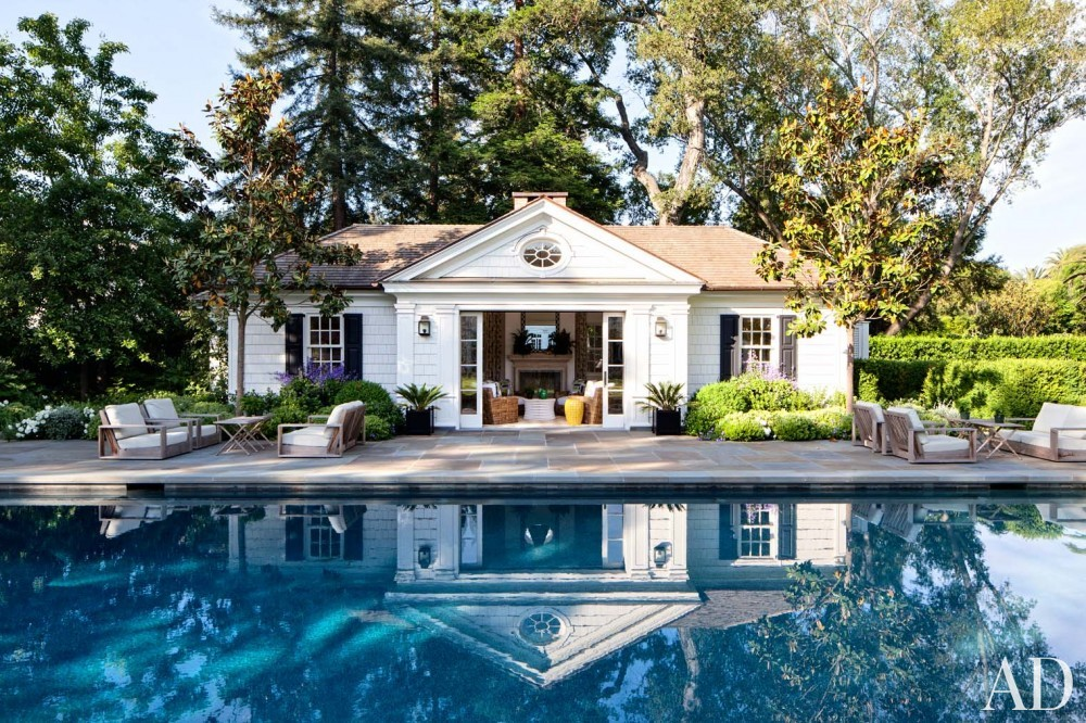 Traditional Pool by Miles Redd and Charlie Barnett in California