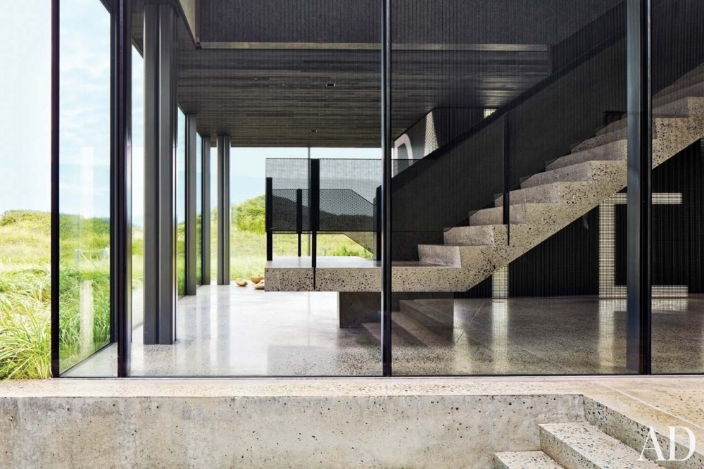 Contemporary Entrance Hall by Christoff:Finio Architecture in The Hamptons, NY