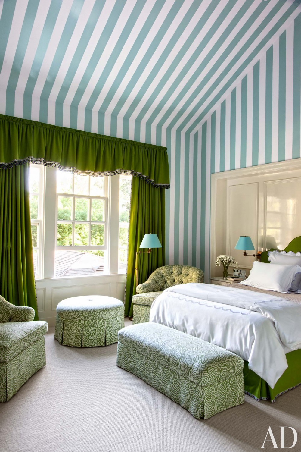 Traditional Bedroom by Miles Redd and Charlie Barnett in California