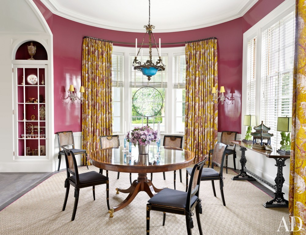 Traditional Dining Room by Katie Ridder and Peter Pennoyer in Millbrook, NY