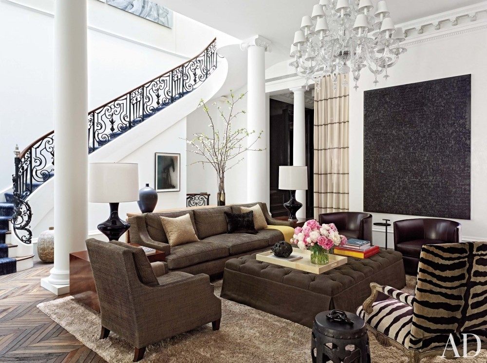 Modern Living Room by Wells & Fox and Dell Mitchell in Boston, MA