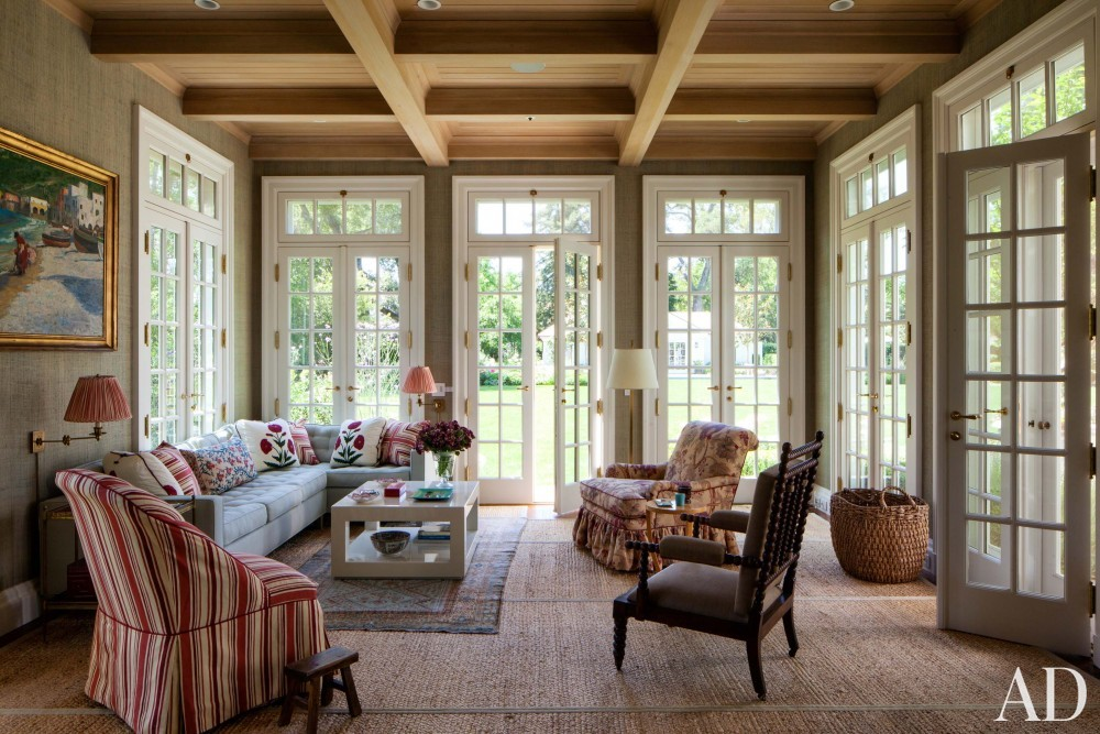 Traditional Living Room by Miles Redd and Charlie Barnett in California