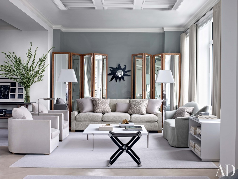 Modern Living Room and Shelton, Mindel & Associates in New York, NY