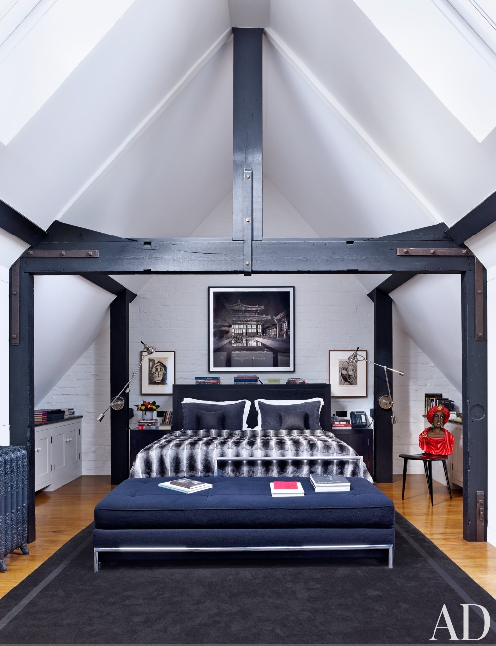 Modern Bedroom by Veere Grenney in London, UK