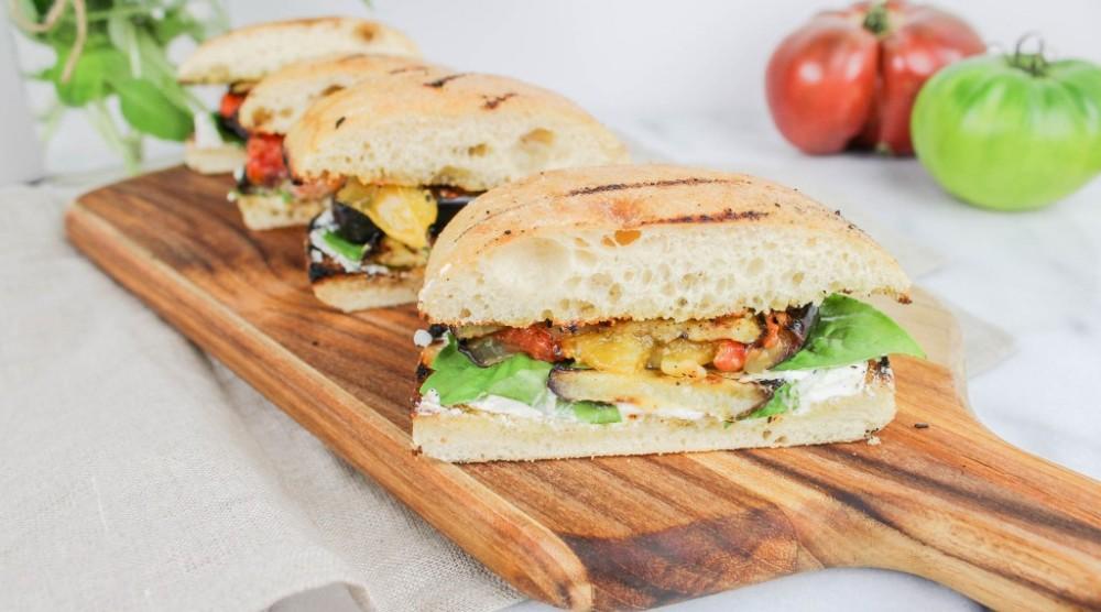 Grilled Eggplant Sandwich by Jennifer Jaras   Epicurious ...