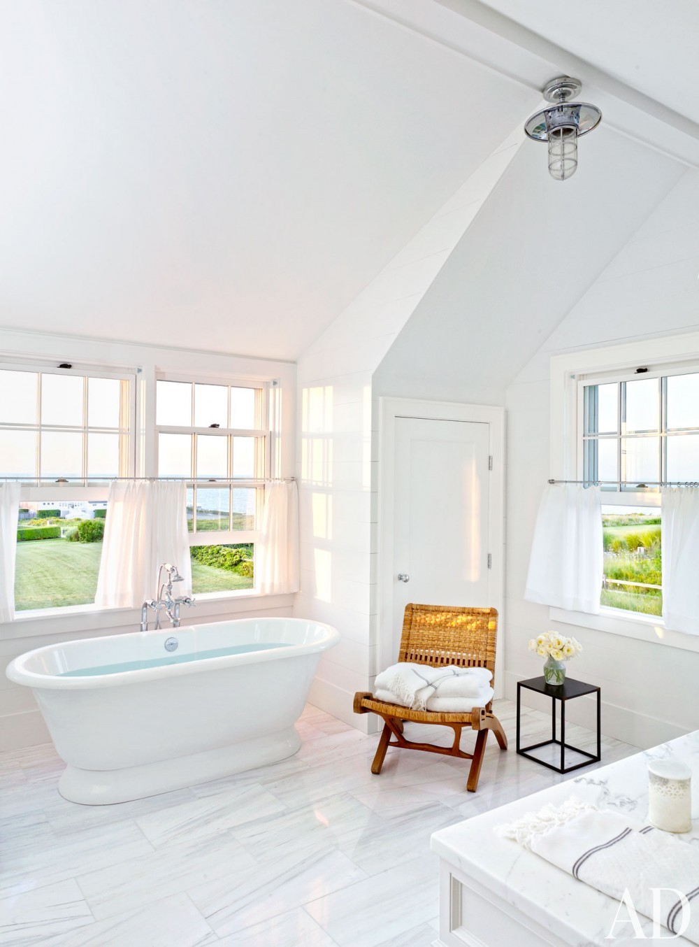 Beach Bathroom by Victoria Hagen and Botticelli & Pohl Architects in Nantucket, MA