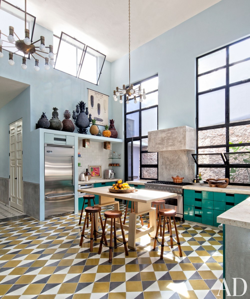 Exotic Kitchen by Robert Willson and David Serrano and Bohl Architects in Merida, Mexico
