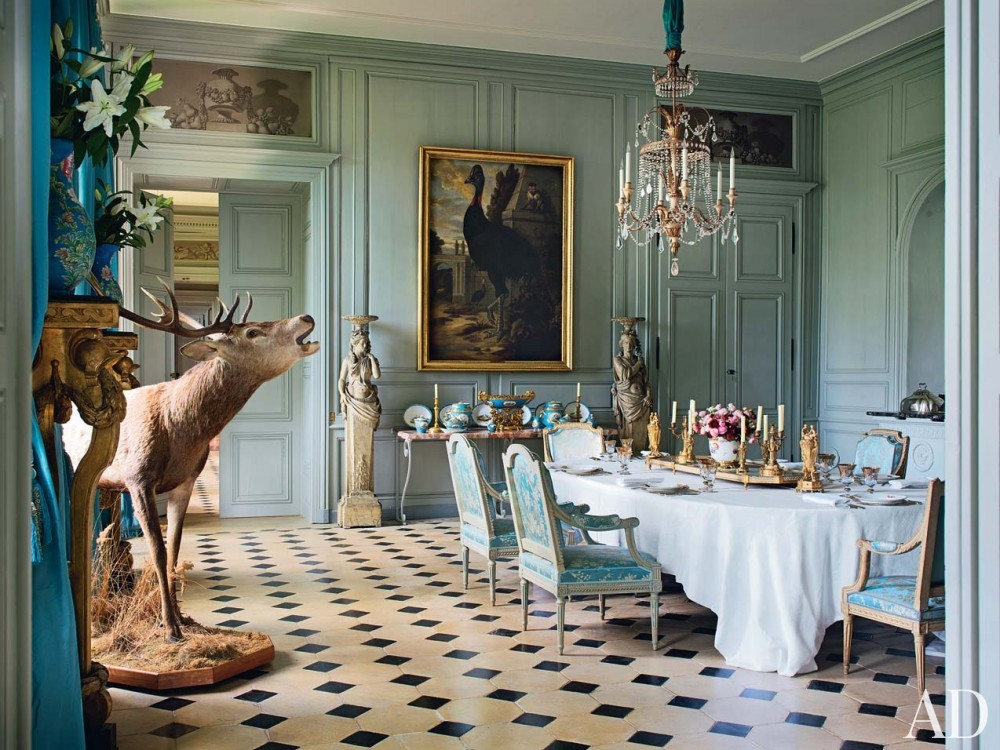 Traditional Dining Room in Burgundy, France