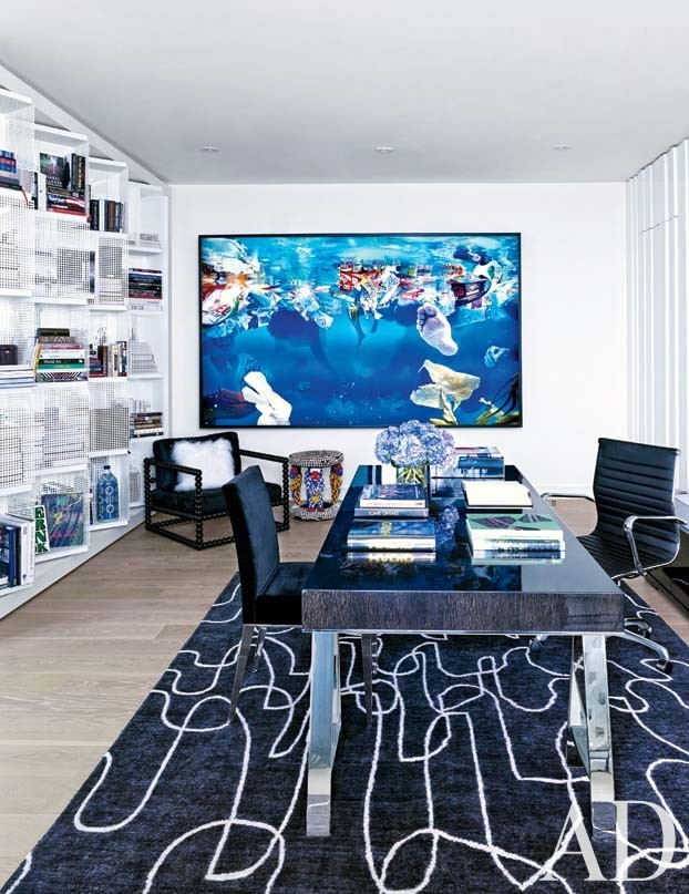 Contemporary Office/Library in Hollywood, FL