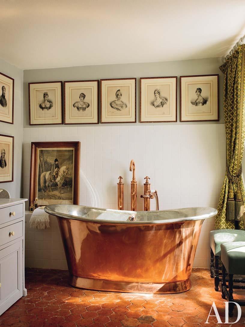 Traditional Bathroom in Burgundy, France