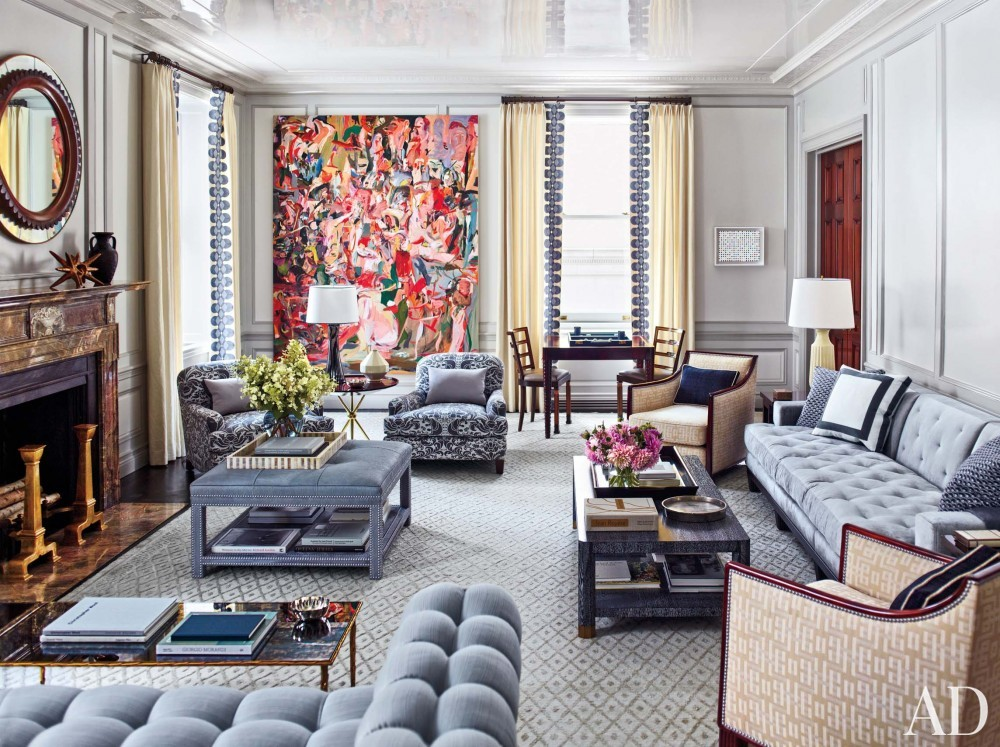 Traditional Living Room by Steven Gambrel in New York, NY