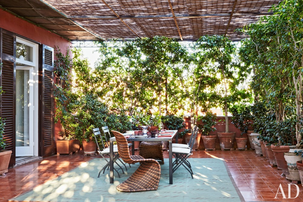 Modern Outdoor Space by Allegra Hicks and Paolo Cattaneo in Naples, Italy