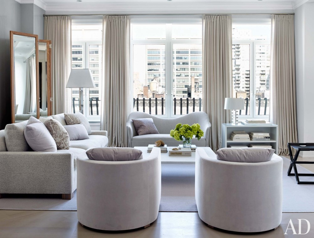 Modern Living Room and Shelton, Mindel & Associates in New York, NY