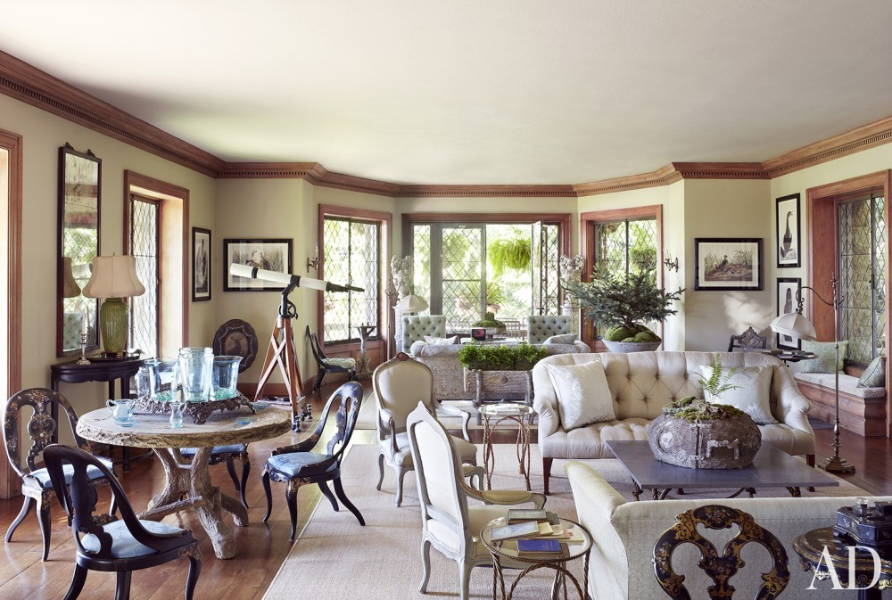 Traditional Office/Library by Martha Stewart and Duncan Candler in Mount Desert Island, ME