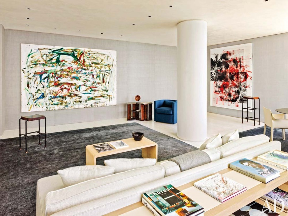 Modern Media/Game Room by Atelier AM and Marvin Herman & Associates in Chicago, IL
