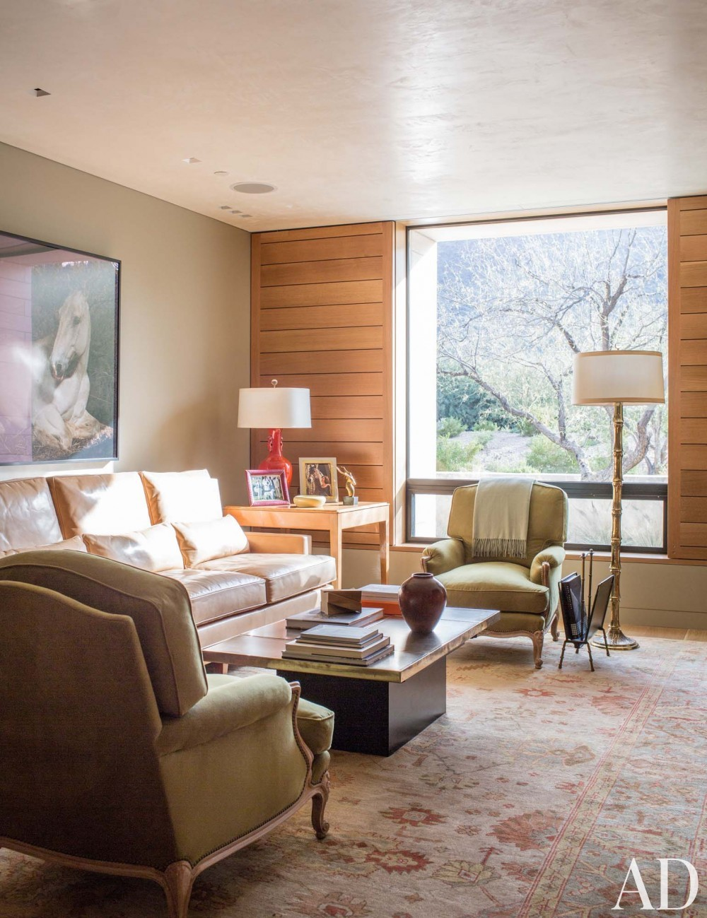Contemporary Living Room by Jan Showers and Marwan Al-Sayed in Arizona