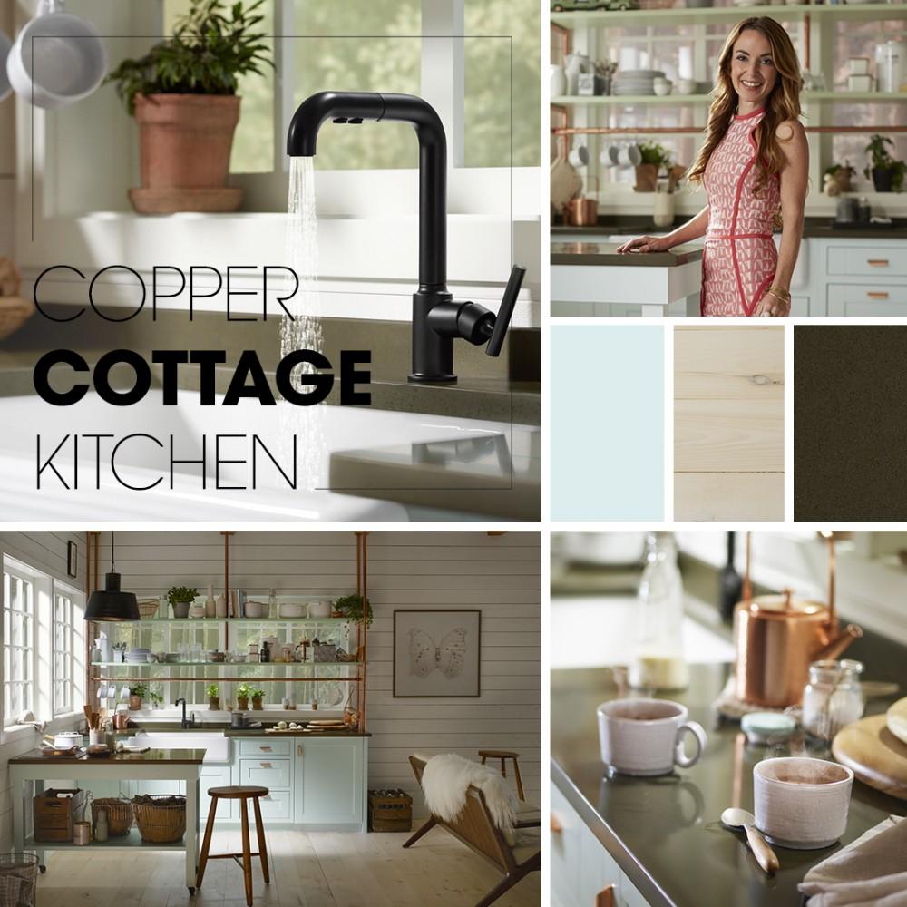 Cottage Style Kitchen Lighting: Copper Cottage Kitchen