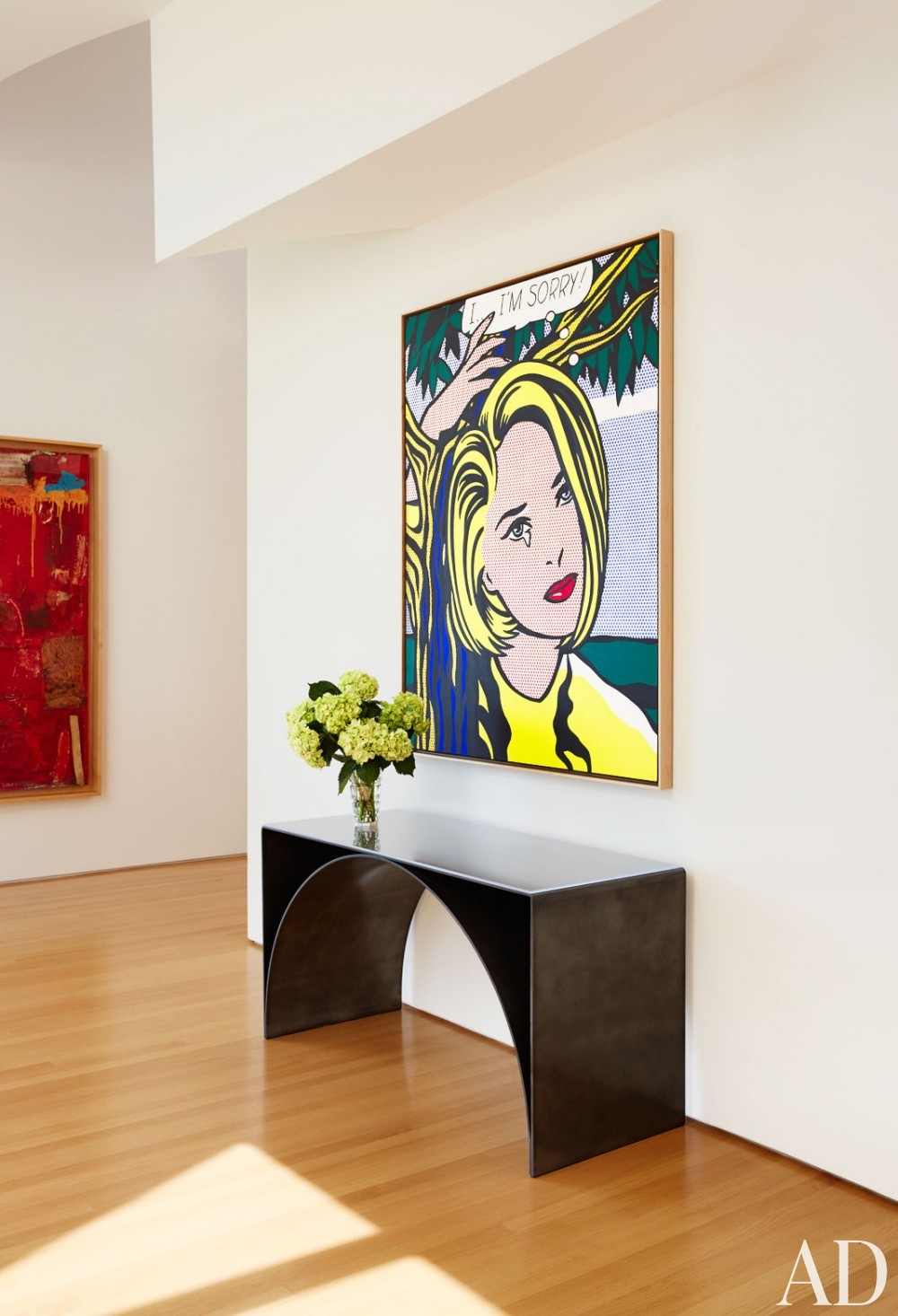 Modern Entrance Hall by Rose Tarlow and Langdon Wilson in Brentwood, CA