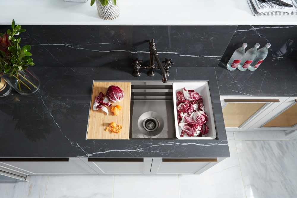 Detroit Designers Showhouse Refined Industrial Kitchen