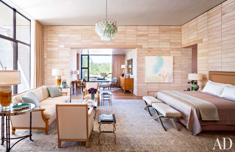 Contemporary Bedroom by Jan Showers and Marwan Al-Sayed in Arizona