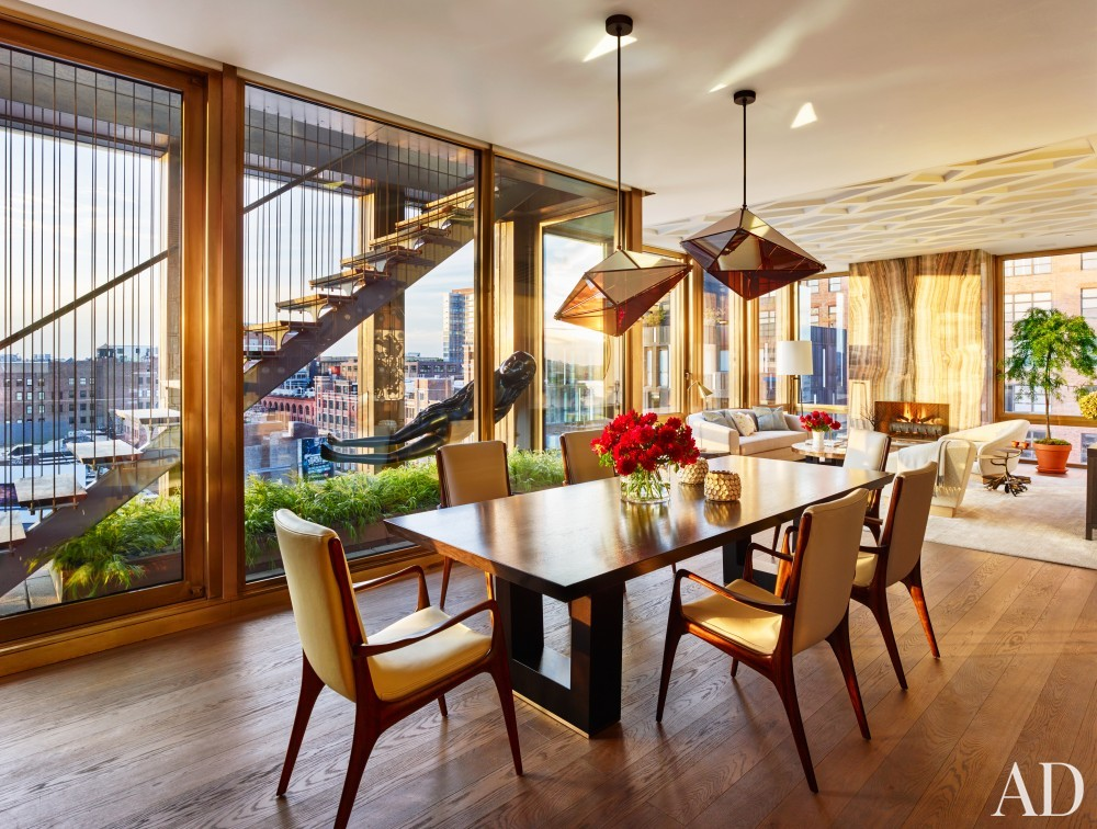 Dining Room by Dufner Heighes in New York, NY