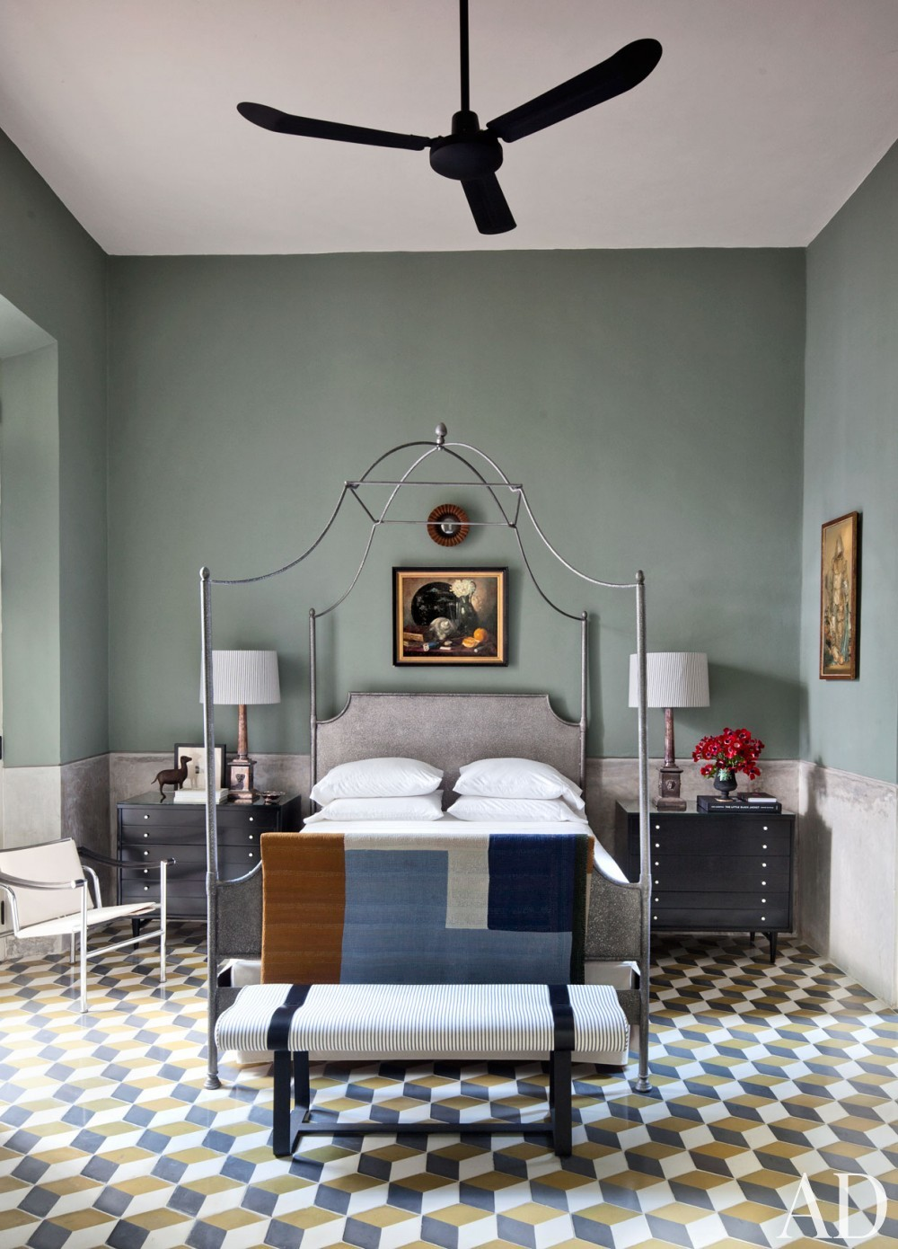 Exotic Bedroom by Robert Willson and David Serrano and Bohl Architects in Merida, Mexico