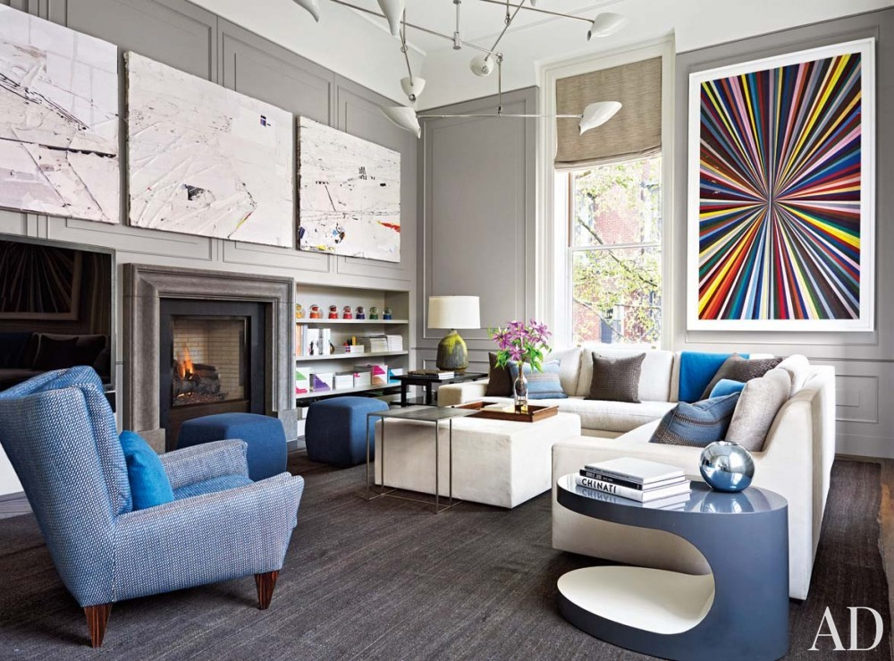 Modern Media/Game Room by Wells & Fox and Dell Mitchell in Boston, MA