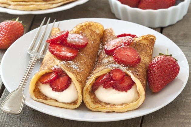 Gluten free strawberry cheesecake pancakes by food fanatic for Table 52 gluten free