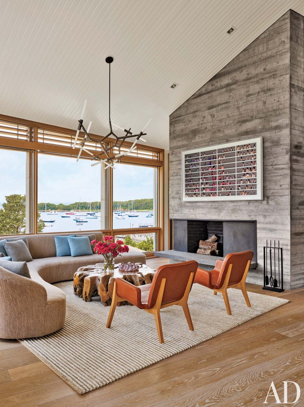 Beach Living Room by Leroy Street Studio in Woods Hole, Massachusetts
