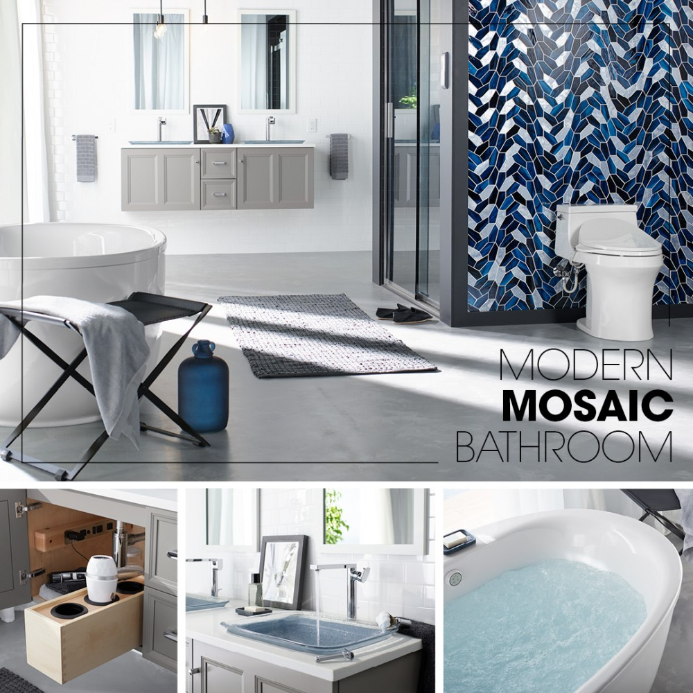 Modern Mosaic Bathroom Kohler Ideas