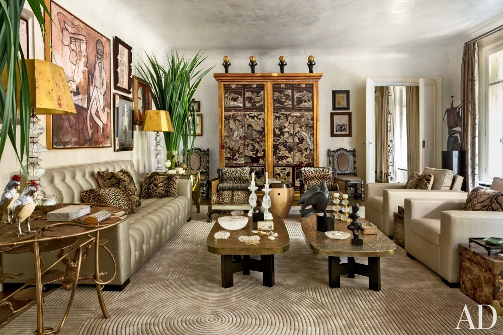 Exotic Living Room by Linda Pinto in Paris, France