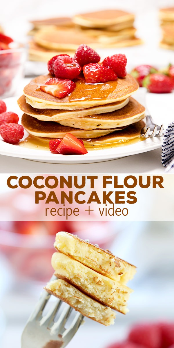 Fluffy coconut flour pancakes by nicole hunn epicurious community paleo coconut flour pancakes that are light and fluffy and made with just a few ccuart Images