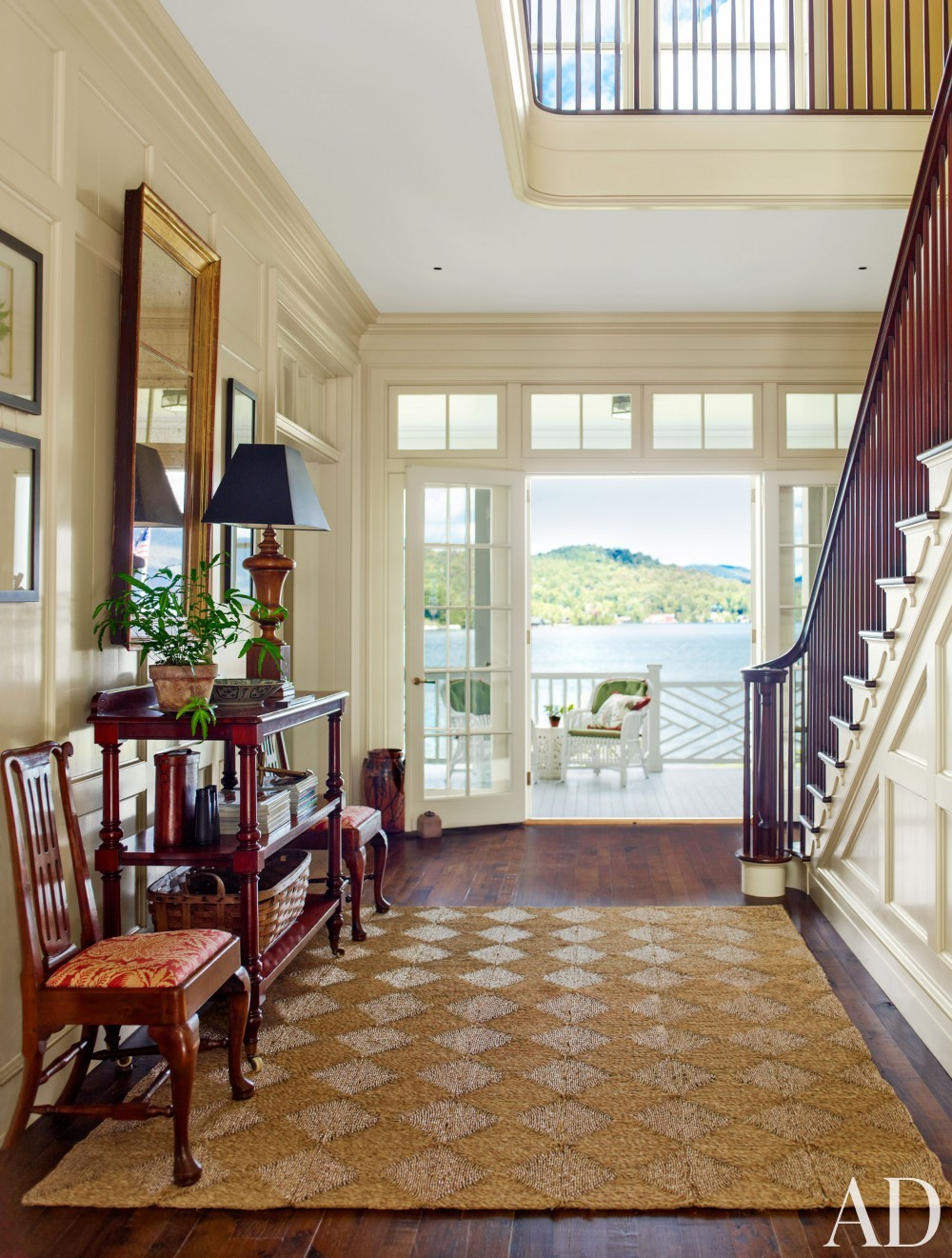 Traditional Entrance Hall and G. P. Schafer Architect in Lake Placid, NY