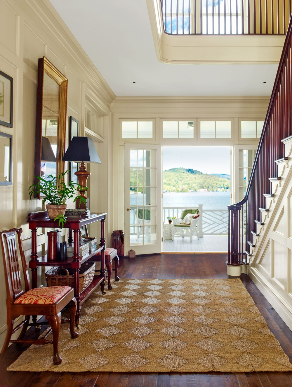 Entrance Foyer Circulation And Balcony In A House : Traditional entrance hall by architectural digest ad
