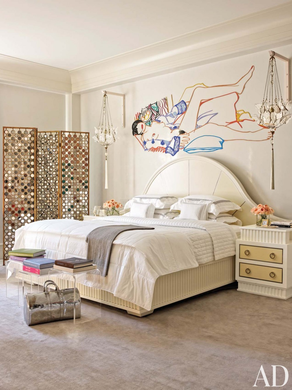 Modern Bedroom by Mark Stumer and James Aman in New York, NY
