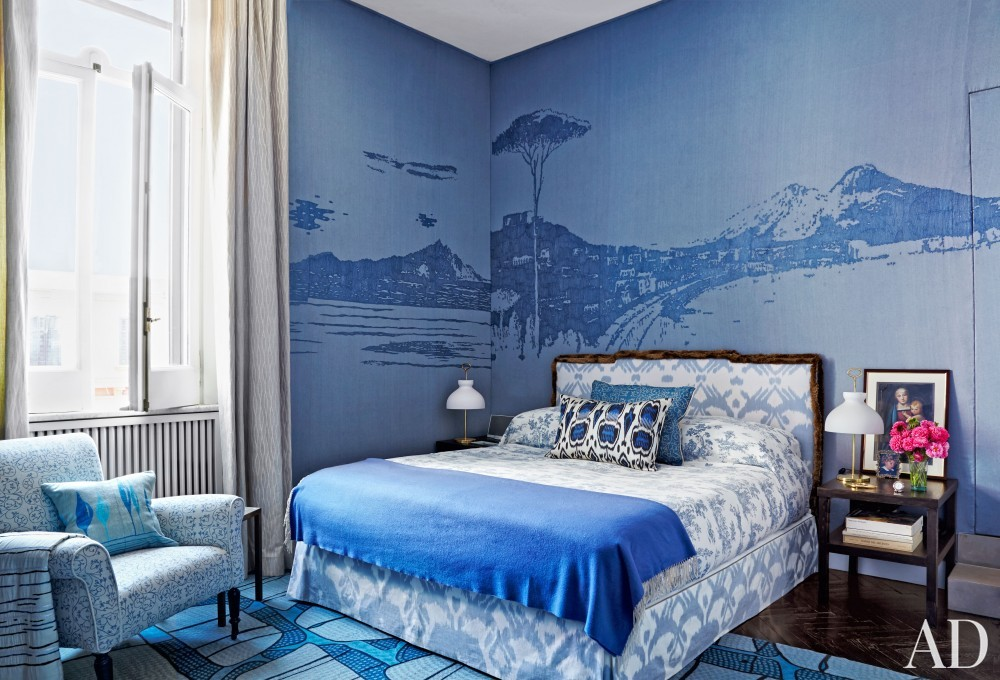 Modern Bedroom by Allegra Hicks and Paolo Cattaneo in Naples, Italy
