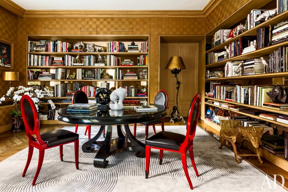 Exotic Office/Library by Linda Pinto in Paris, France