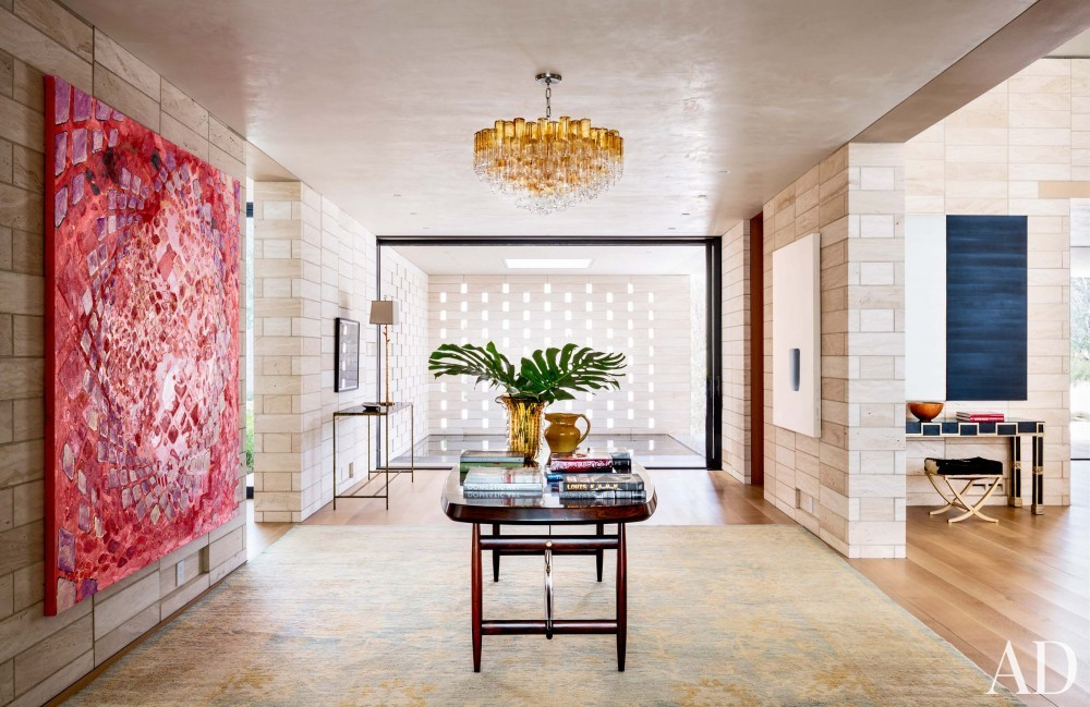 Contemporary Entrance Hall by Jan Showers and Marwan Al-Sayed in Arizona