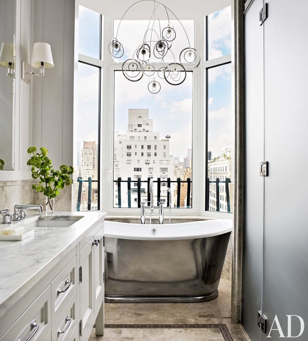Modern Bathroom and Shelton, Mindel & Associates in New York, NY