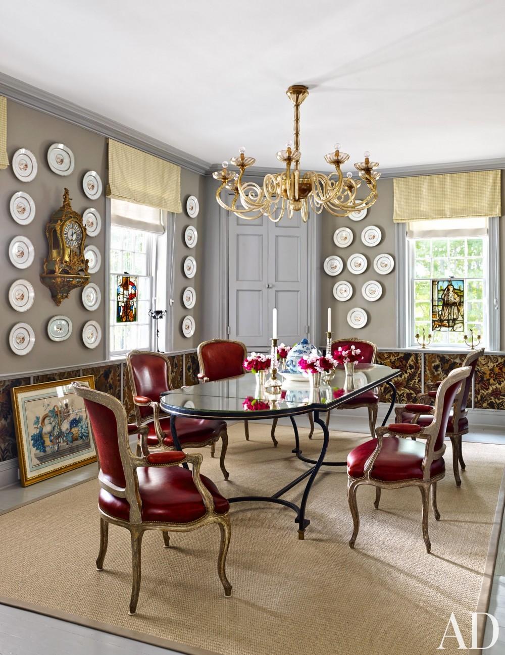 Traditional Dining Room by D\'Aquino Monaco and D\'Aquino Monaco in Hudson River Valley, NY