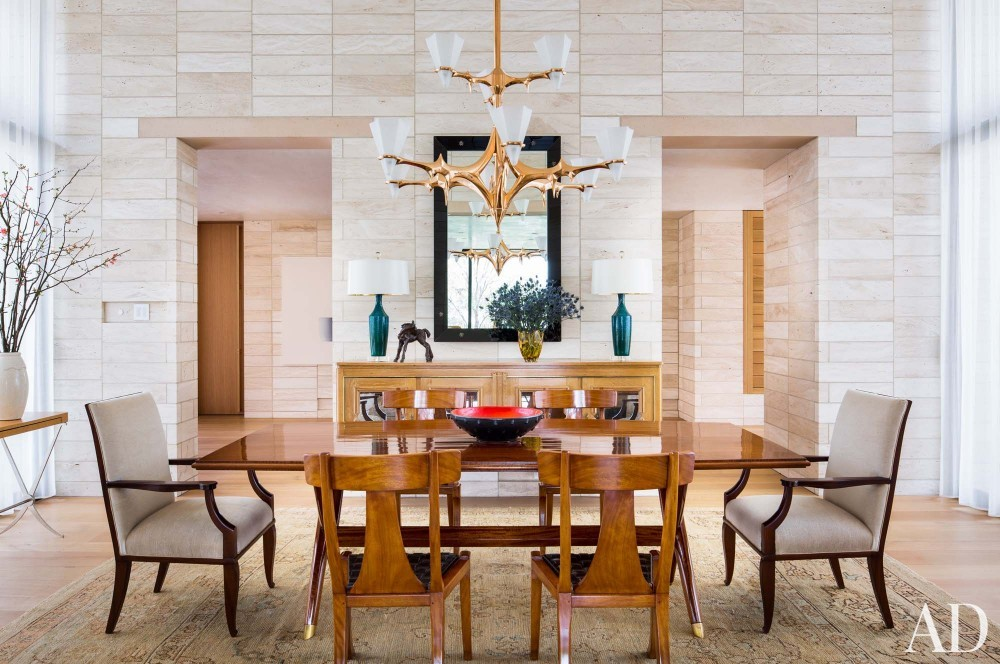 Contemporary Dining Room by Jan Showers and Marwan Al-Sayed in Arizona