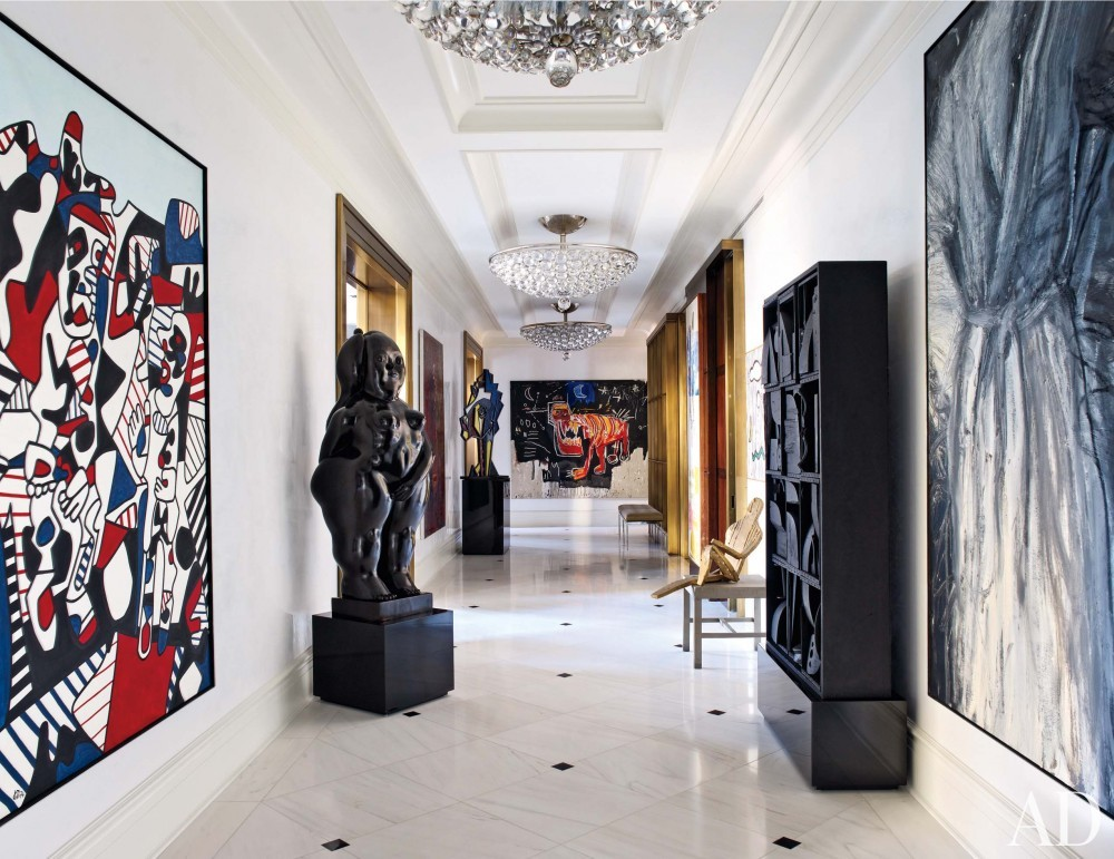 Modern Entrance Hall by Mark Stumer and James Aman in New York, NY