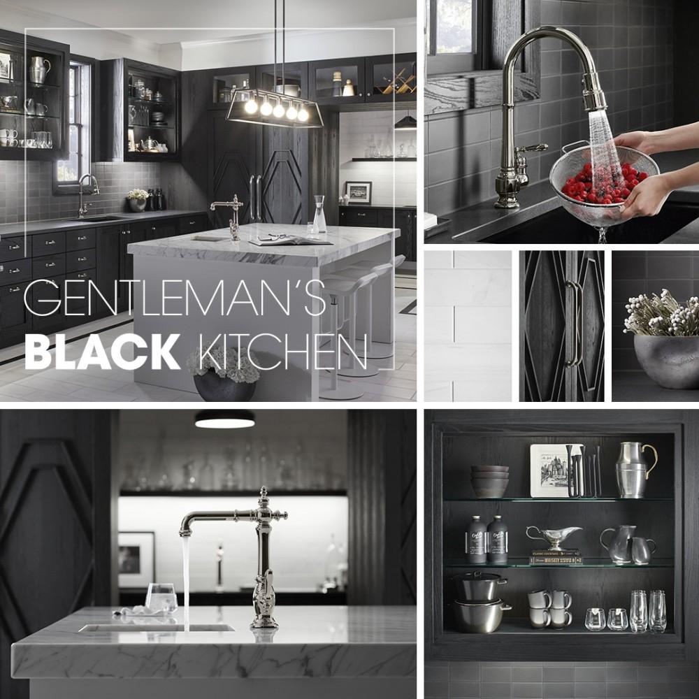 Gentleman S Black Kitchen Kohler Ideas