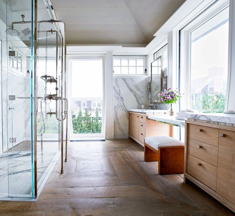 Reclaimed Wood Flooring Long Island Ny: Beach Bathroom By Cullman & Cravis By Architectural Digest