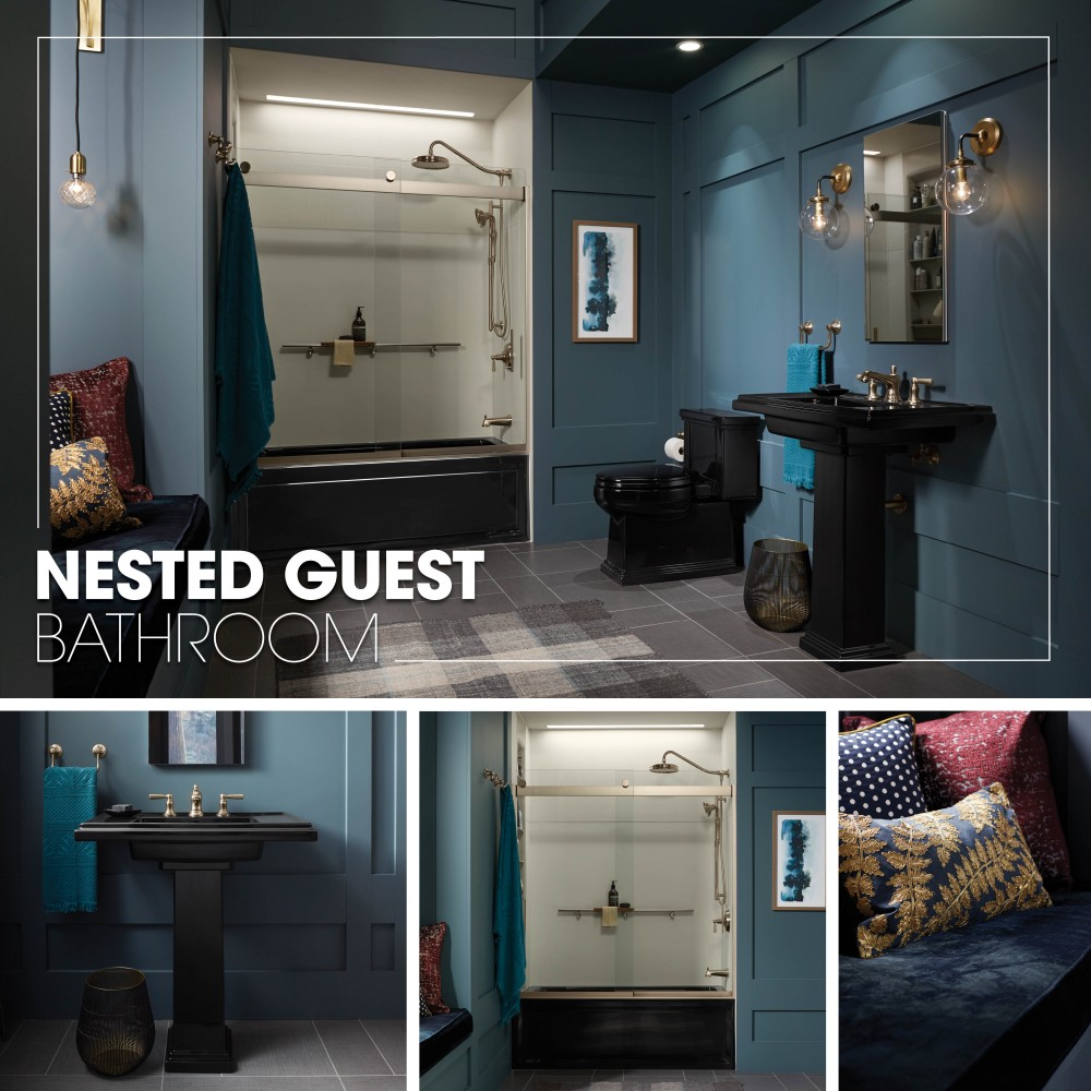 Guest Bathroom Ideas With Pleasant Atmosphere: Nested Guest Bathroom