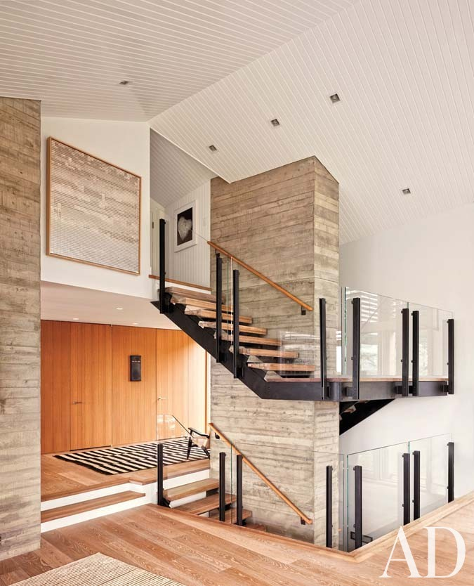 Beach Staircase/Hallway by Leroy Street Studio in Woods Hole, Massachusetts