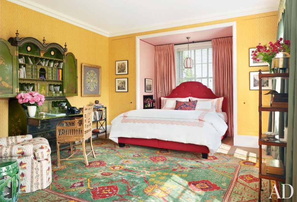 Traditional Bedroom by Katie Ridder and Peter Pennoyer in Millbrook, NY