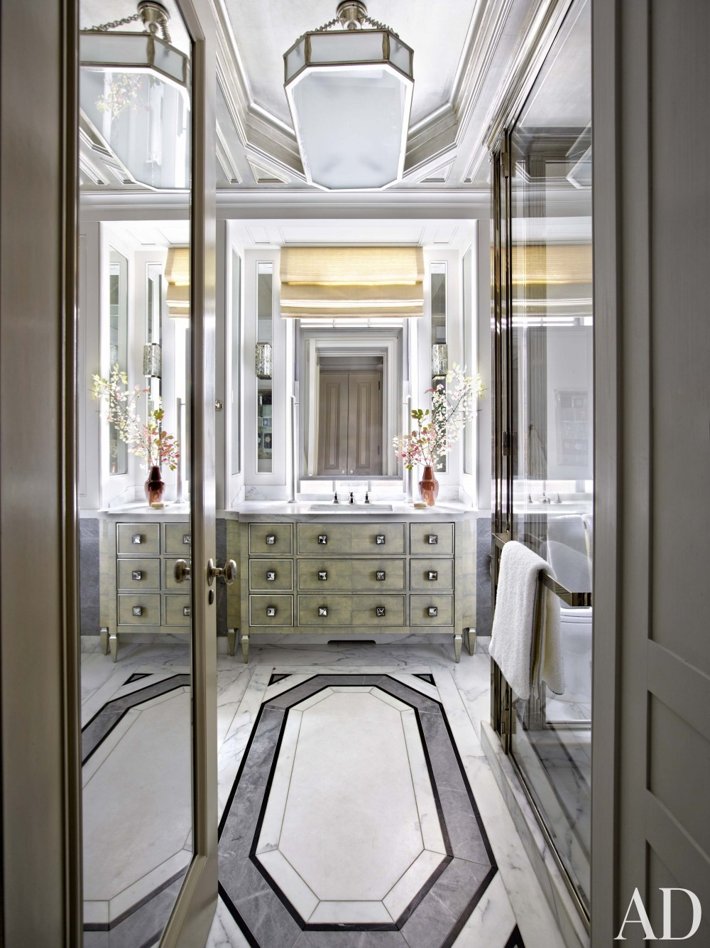 Modern Bathroom by Michael S. Smith and Ferguson & Shamamian Architects in New York, NY